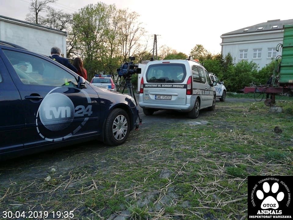 Interwencja w Falentach - służby na miejscu